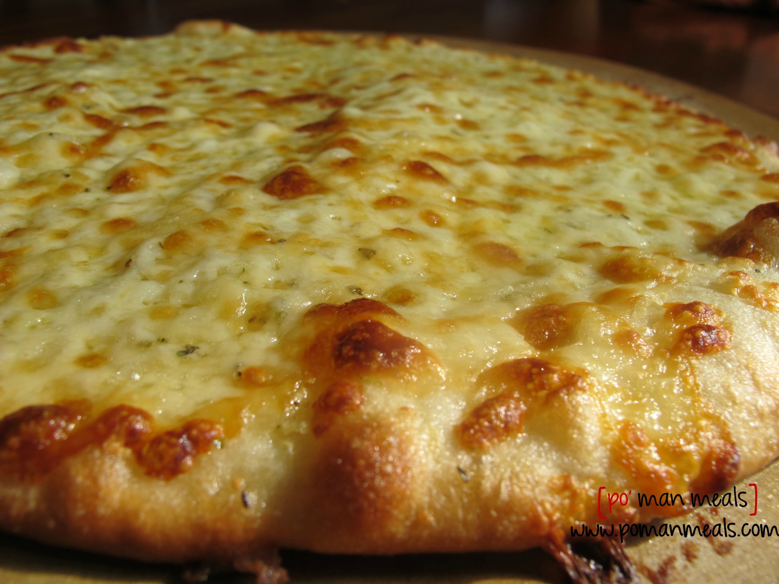 po' man meals - three cheese garlic breadsticks