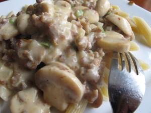 sausage gravy pasta 2