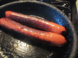 sausage browned