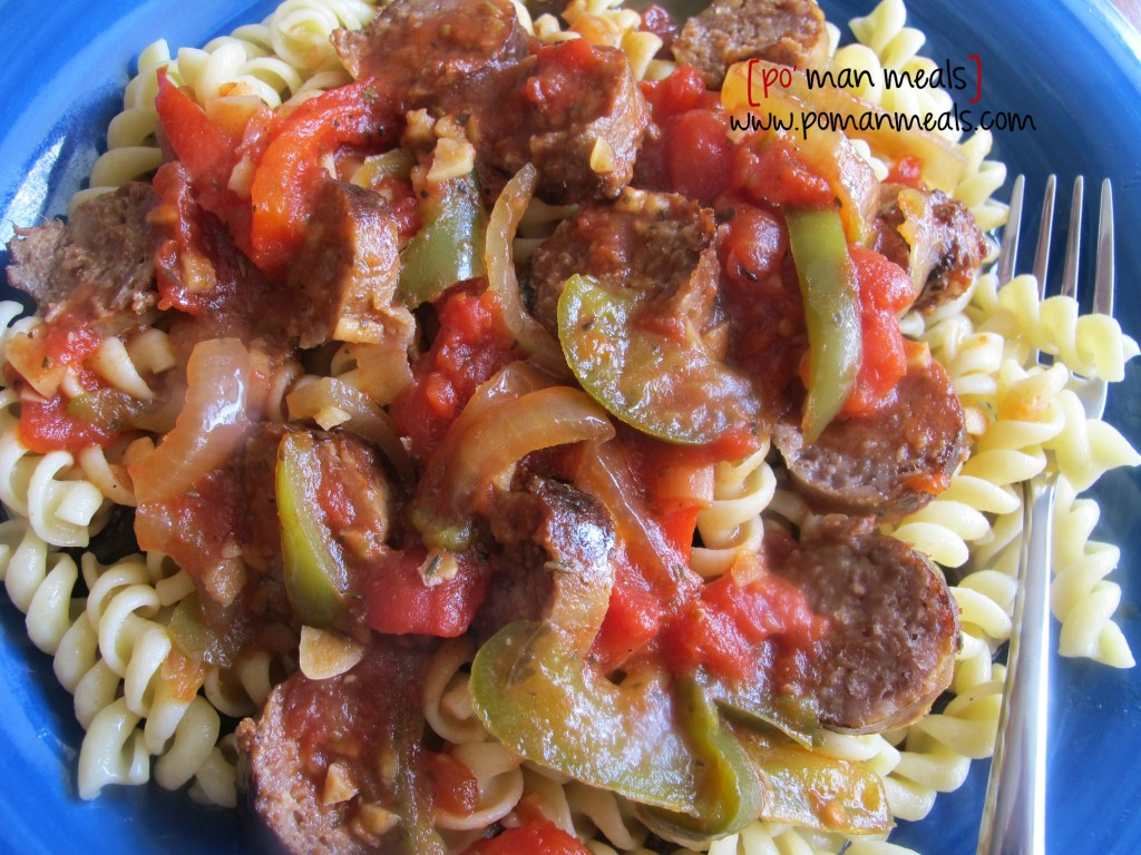 full sausage peppers pastawm