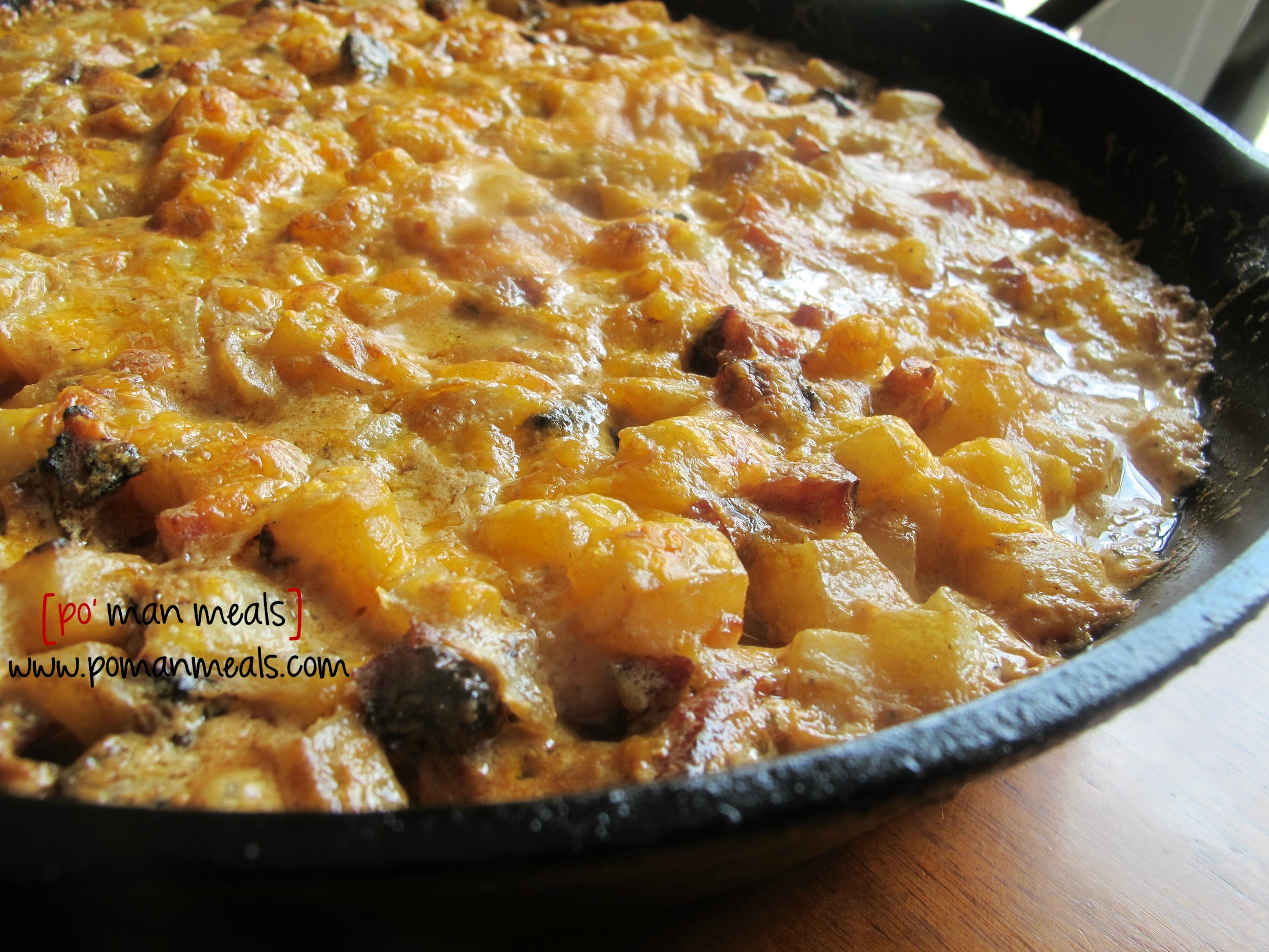 po' man meals - creamy sausage and potato skillet