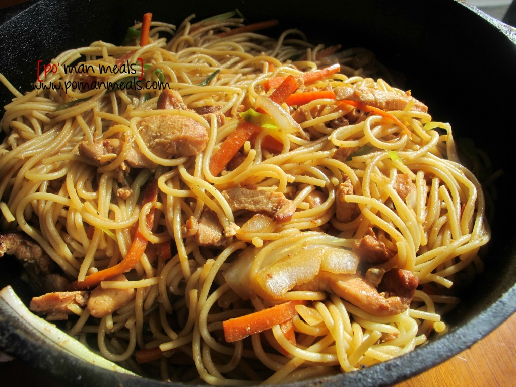 po' man meals - chicken lo mein