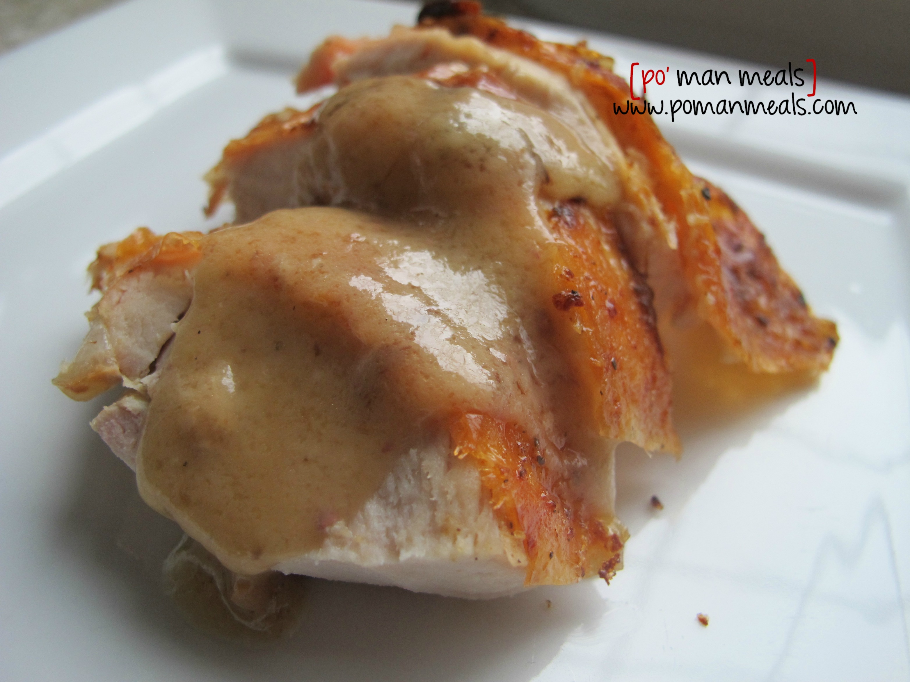 po' man meals - roasted garlic butter turkey w/gravy