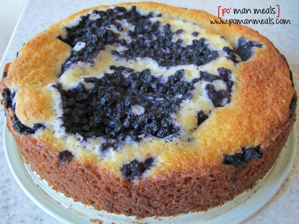 blueberry cake donewm
