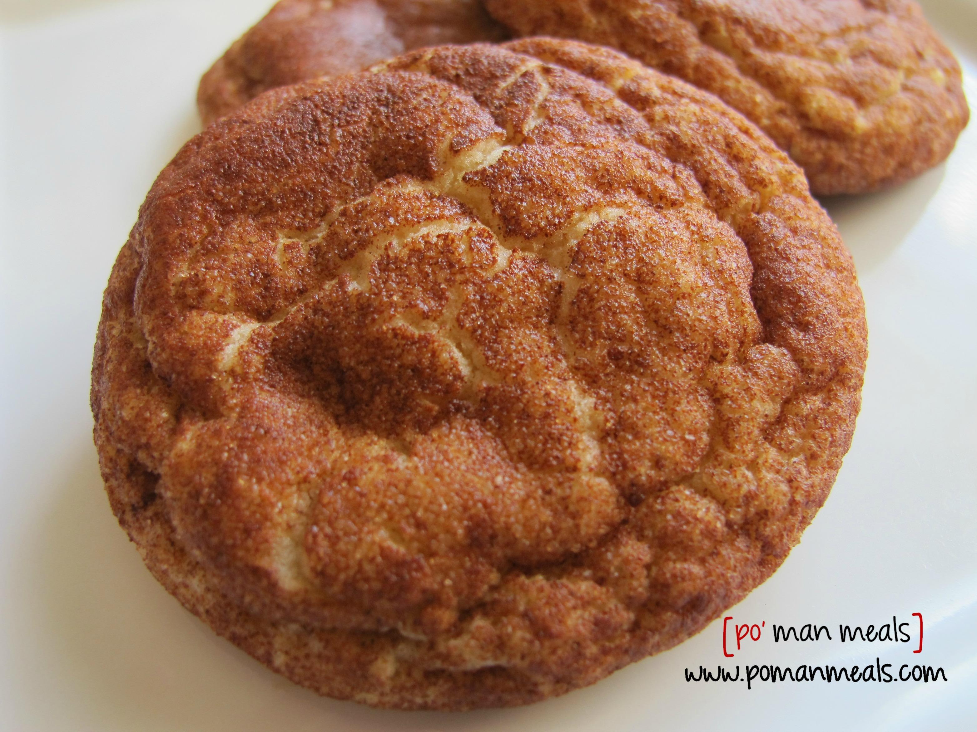 po' man meals - snickerdoodle cookies