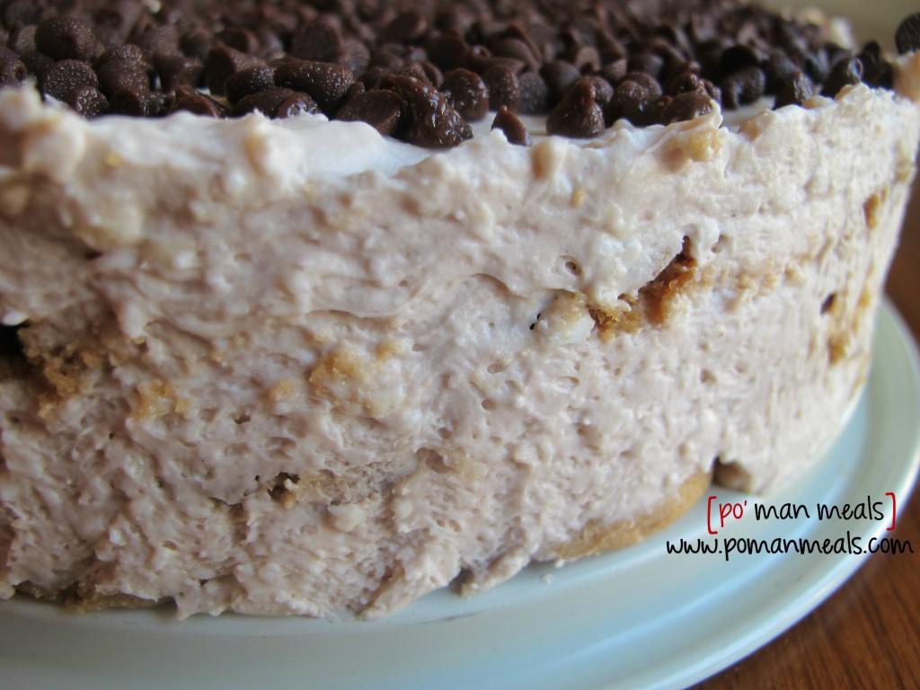 closeup chocolate chip cakewm